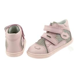 Shoes Velcro Bartek 11703 grey pink 5