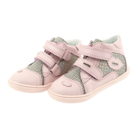 Shoes Velcro Bartek 11703 grey pink 3