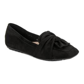 Black Suede Ballerinas 1