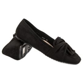 Black Suede Ballerinas 3