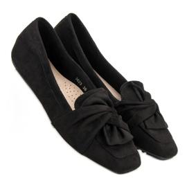 Black Suede Ballerinas 4