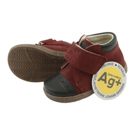 Boy shoes with velcro Ren But 1535 burgundy multicolored navy 5