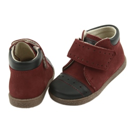 Boy shoes with velcro Ren But 1535 burgundy multicolored navy 4
