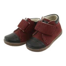 Boy shoes with velcro Ren But 1535 burgundy multicolored navy 3