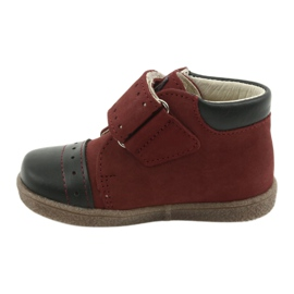 Boy shoes with velcro Ren But 1535 burgundy multicolored navy 2