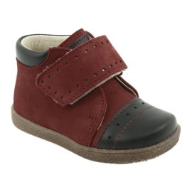 Boy shoes with velcro Ren But 1535 burgundy multicolored navy 1