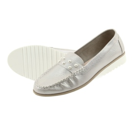 Sergio Leone Loafers women's shoes beige pearl 5