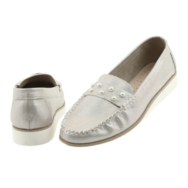 Sergio Leone Loafers women's shoes beige pearl 4