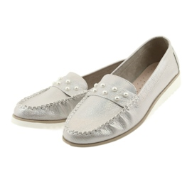 Sergio Leone Loafers women's shoes beige pearl 3