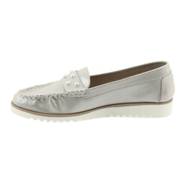 Sergio Leone Loafers women's shoes beige pearl 2