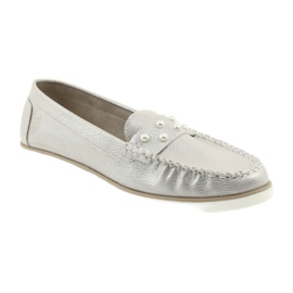 Sergio Leone Loafers women's shoes beige pearl 1