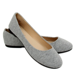 Gray cotton ballerinas LZ-8537 Gray grey 2