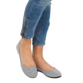 Gray cotton ballerinas LZ-8537 Gray grey 1