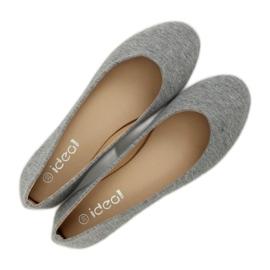 Gray cotton ballerinas LZ-8537 Gray grey 3