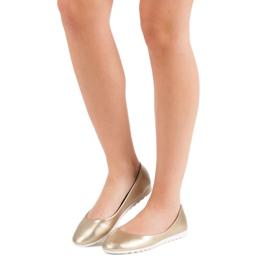 Yes Mile Classic golden ballerinas 6