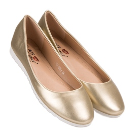 Yes Mile Classic golden ballerinas 2