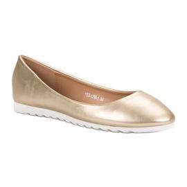 Yes Mile Classic golden ballerinas 4