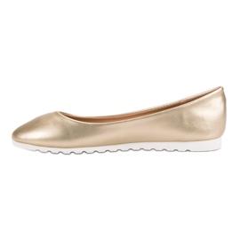 Yes Mile Classic golden ballerinas 5
