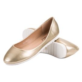 Yes Mile Classic golden ballerinas 3