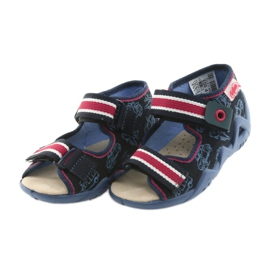 Befado yellow children's shoes 350P003 navy 4