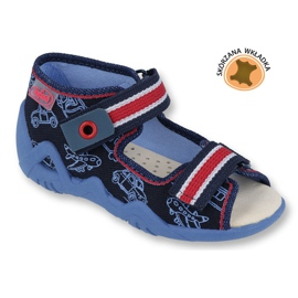 Befado yellow children's shoes 350P003 navy 1