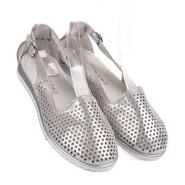 Leather VINCEZA ballerinas grey 6