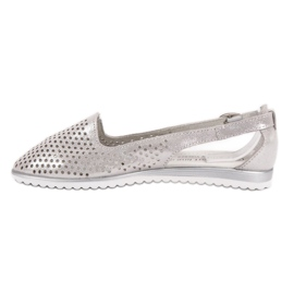 Leather VINCEZA ballerinas grey 4