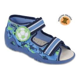 Befado yellow children's shoes 350P002 blue green 1