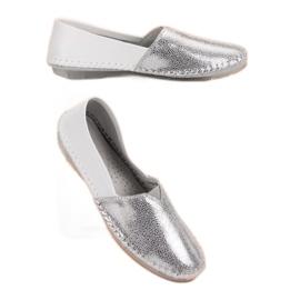 VINCEZA leather slipons grey 4
