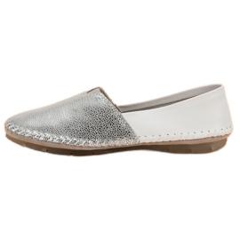 VINCEZA leather slipons grey 7