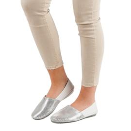 VINCEZA leather slipons grey 2