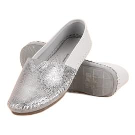 VINCEZA leather slipons grey 5