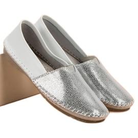 VINCEZA leather slipons grey 1