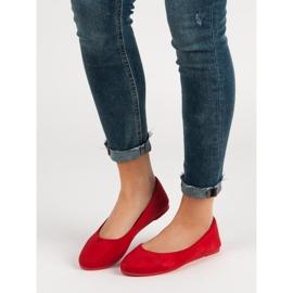 VICES suede red ballerinas 2
