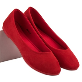 VICES suede red ballerinas 1
