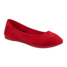 VICES suede red ballerinas 4