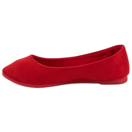 VICES suede red ballerinas 5