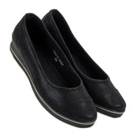 VINCEZA sports ballerinas black 4