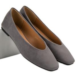 Seastar Gray Suede Ballerinas grey 6