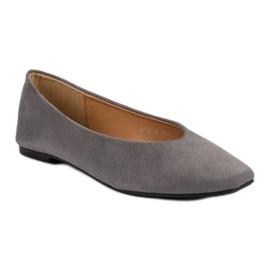 Seastar Gray Suede Ballerinas grey 3