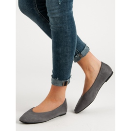 Seastar Gray Suede Ballerinas grey 2