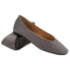 Seastar Gray Suede Ballerinas grey 5