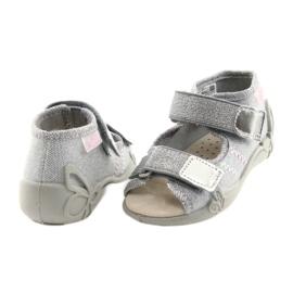 Befado children's shoes 342P002 silvery grey 4