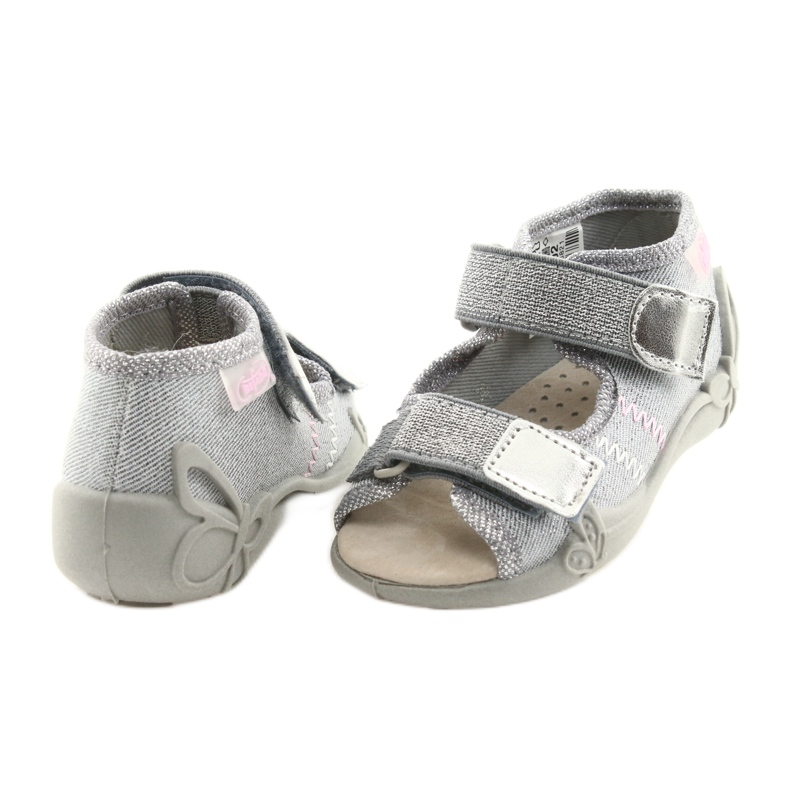Grey Befado children's shoes 342P002 silvery picture 4
