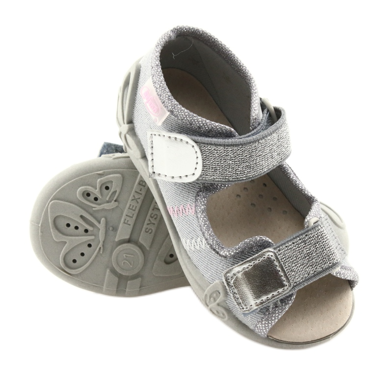 Grey Befado children's shoes 342P002 silvery picture 3