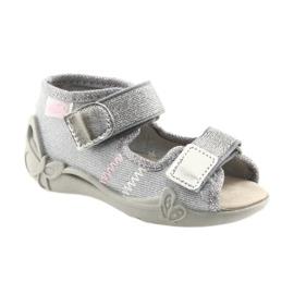 Befado children's shoes 342P002 silvery grey 1