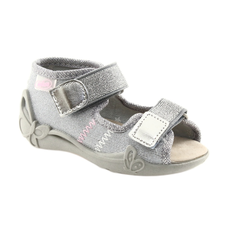Grey Befado children's shoes 342P002 silvery picture 1