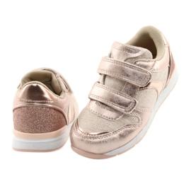 Pink Sneakers American Club ES25 gold 4