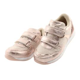 Pink Sneakers American Club ES25 gold 3