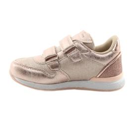 Pink Sneakers American Club ES25 gold 2